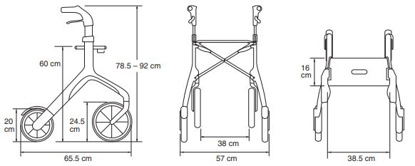 dimensiones rollator let´s fly