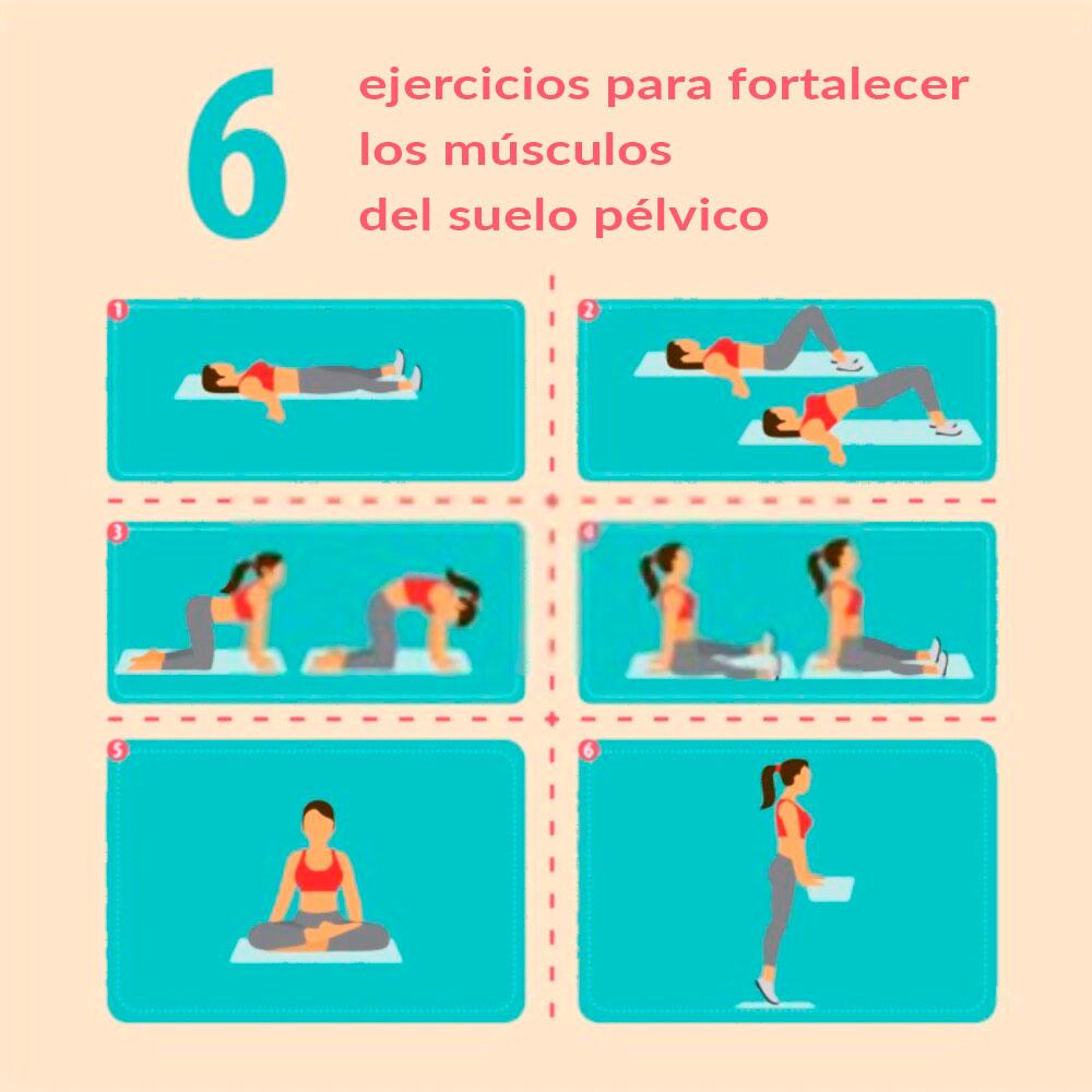 6 ejercicios suelo pelvico