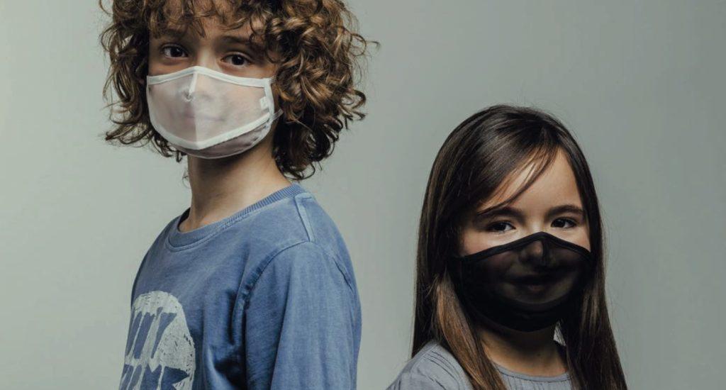 mascarillas emotion transparentes para niños