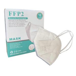 mujer llevando una mascarilla de proteccion ffp2