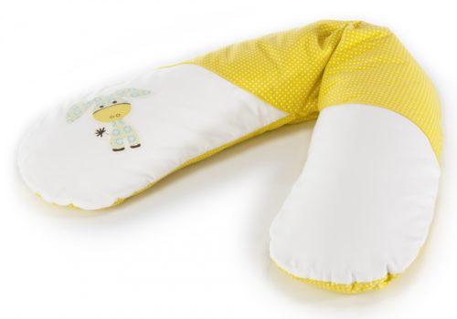 cojin lactancia amarillo y blanco