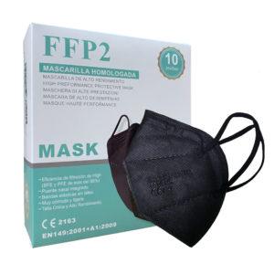 mascarilla de proteccion ffp2 color negro