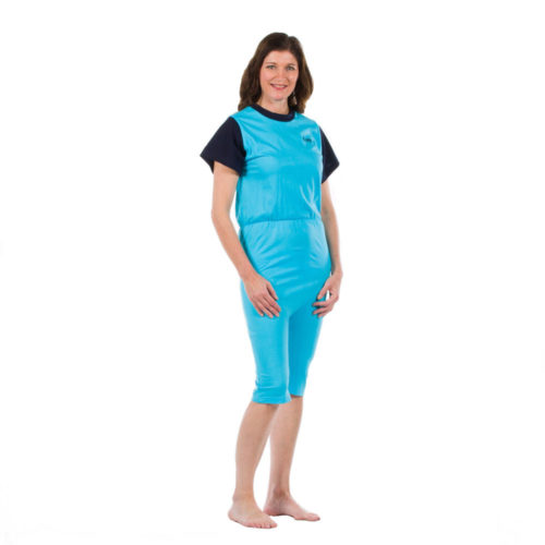 pijama incontinencia corto mujer azul
