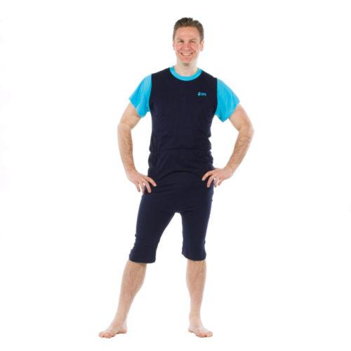 pijama corto azul oscuron hombre