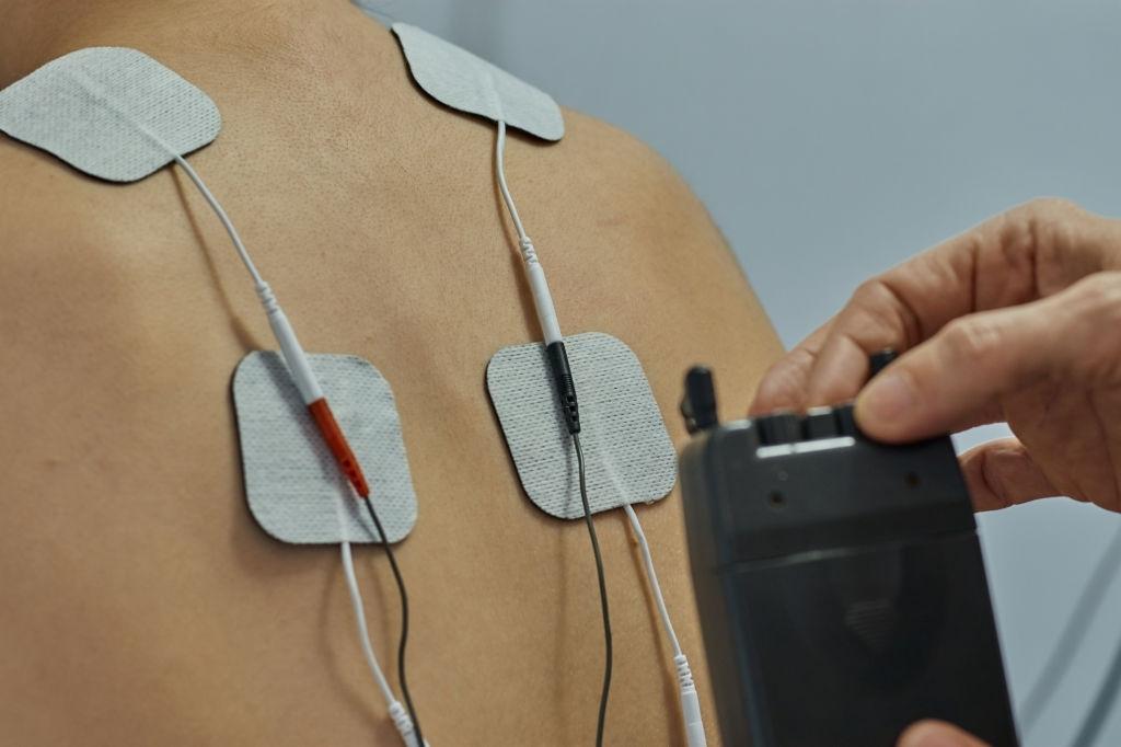 terapia electrica en musculos de espalda